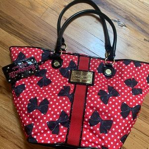 Betseyville Satchel Black red and white bows